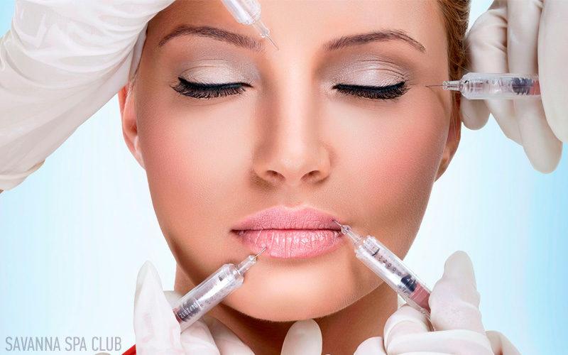 ін`єкції ботоксу, губ, обличчя