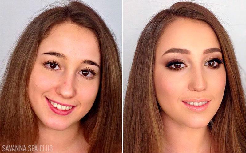 макіяж до і після роботи візажиста