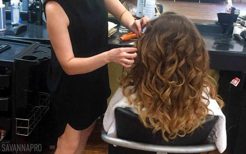 курси перукаря - навчання по накрутці волосся