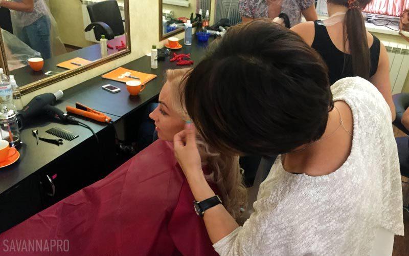 навчання перукарів в салоні