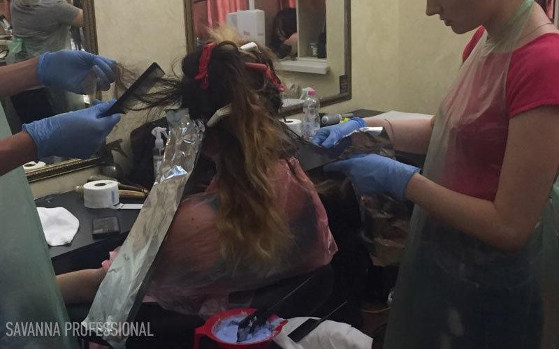 фарбування волосся - курс перукаря