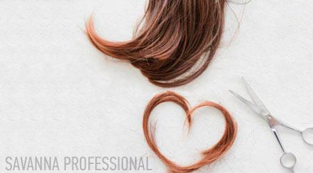 волосся і ножниці - символ навчання на перукаря