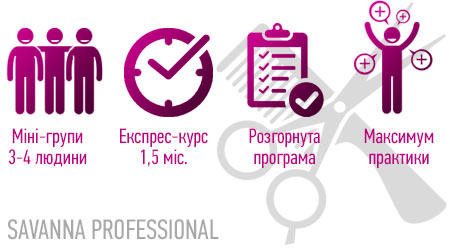 переваги курсу перукарів в SAVANNA PROFESSIONAL