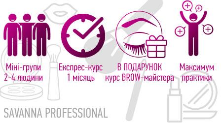 переваги курсів макіяжу в SAVANNA PROFESSIONAL