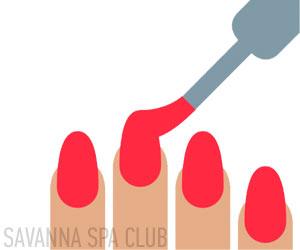 покриття нігтів гелем і червоним кольором