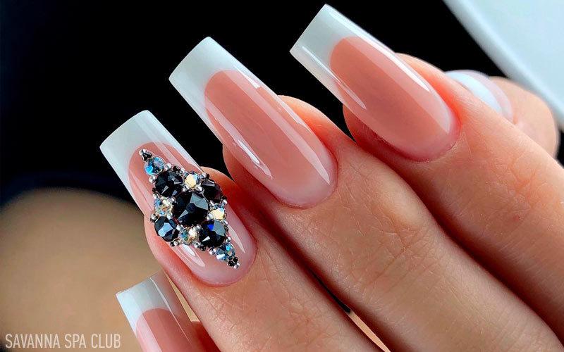 френч - на нарощених нігтях