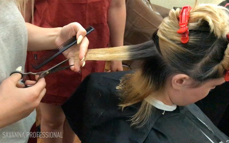 стрижка на навчанні перукарів