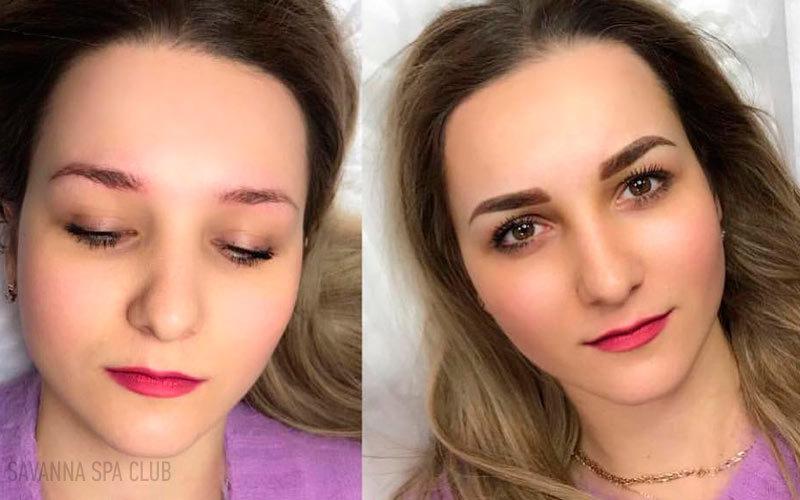 перманентний макіяж брів до/після