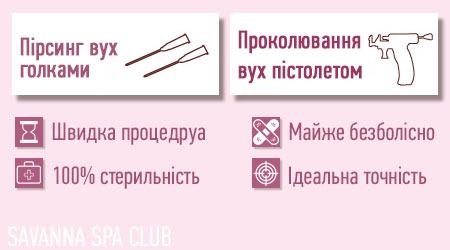 методи проколювання вух - переваги