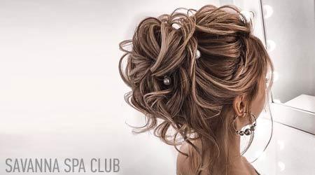 весільна зачіска виконана в салоні краси Savanna